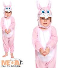 Pink Bunny Kids Fancy Dress Easter Rabbit Animal Boys Girls Toddlers Costume 2-3