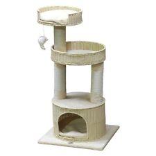 """Go Pet Club 22"""" W x 19.25"""" L x 44"""" H Hand Craft PE Rattan Wicker SF088 Cat Tree"""