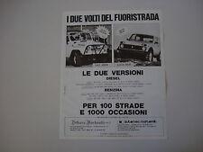 advertising Pubblicità 1983 UAZ 469 B e LADA NIVA