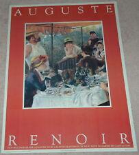 "Vintage  Print  Renoir""Luncheon Party""  28""x20"" Unsigned Impressionism Artwork"