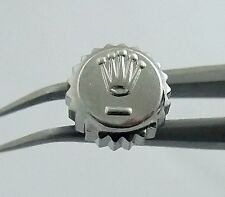 Rolex Datejust 6mm Steel Watch Crown Part 1601 16013 16000 1/2 Turn on Threads