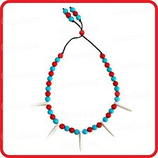 INDIAN PIRATE SAVAGE VIKING CHIEF OF THE TRIBE YAHOO FANGS NECKLACE-COSTUME