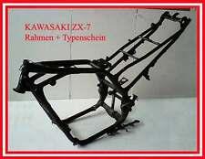 █▄▀▄▀▄ Kawasaki ZR-7 ZR7 ZR750F ZR 750 F Rahmen + Typenschein ▄▀▄▀▄█