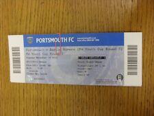 19/11/2013 BIGLIETTO: Portsmouth YOUTH V Barton ROVER Youth [FA Youth Cup]. grazie