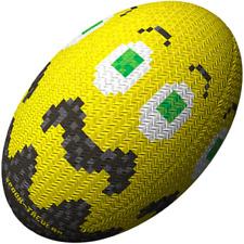 Gilbert Randoms Ghost Yellow Rugby Ball Size 5