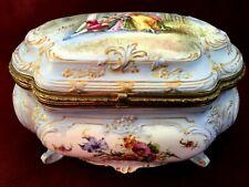 Antique porcelain box EDME SAMSON