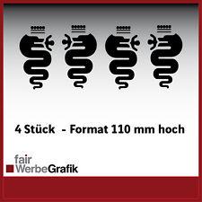 Aufkleber /  Sticker / Dekor / Alfa Romeo Schlange / #075