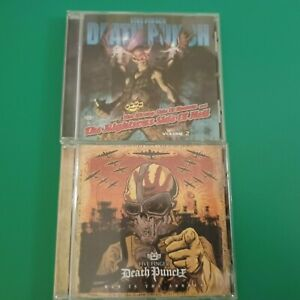 """2 CD FIVE FINGER DEATH PUNCH  """" war is the answen """" the wrong side of ......."""""""