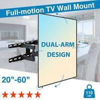"""Full-Motion HDTV TV Wall Mount Bracket 32 36 37 40 42 47 50 55 60"""" LCD LED"""