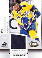 17-18 SP Game P.K. Subban Jersey All-Star Skills Predators 2017