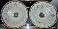 "ART DECO VICTORIAN CEILING LIGHT FIXTURE CHANDELIER ORNATE GLASS 15"" SHADE PAIR"