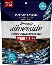 Atlantic Silverside Whole Fish Dog Treats – All-Natural Treats for Pets 2.5 Oz.