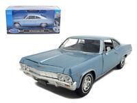 1/24 Welly 1965 Chevrolet Impala SS 396 Diecast Model Car Light Blue 22417