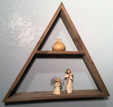 Triangle Shelf - Rustic Reclaimed Weathered Wood, Bohemian Style, Natural Wood