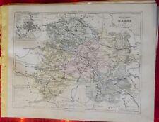 Old Map 1900 France Département Chalon sur Marne Épernay Reims Fleury Vitry
