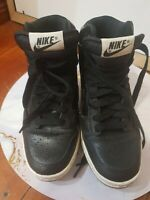 NIKE Dunk Sky High Wedge Sneaker Black Leather US Size 6 Great Condition