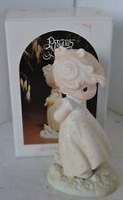 Precious Moments Porcelain Figure 1984 Autumn's Peace With Box