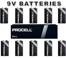 10x Duracell Procell 9V PP3 EN22 6F22 6LR61 HP3 LR22 9 Volt Industrial Batteries