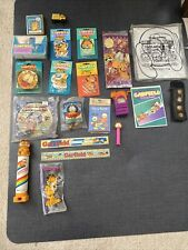 Garfield the Cat lot of toys, air fresheners, school Supplies and other oddities
