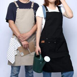 Unisex Restaurant Flower Shop Apron Coffee House Hotel Working Dress Black/Khaki