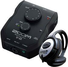 Zoom U22 USB Audio-Interface  +  Kopfhörer