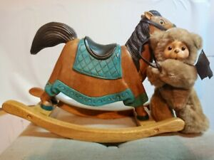 Limited edition Dolly and her rocking horse Robert Raikes Bears #28/500