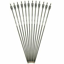 New listing 12pcs 30inch Mixed Carbon Arrows SP500 For Compound Recurve Bow Archery Hunt