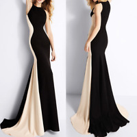 Sexy Women Sleeveless Bodycon Evening Cocktail Dress Party Long Ball Gown Formal
