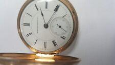 WORKING! Hampden Watch Co Dueber Model 3 15j 14k Gold Fill 18s Pocket Watch 1885