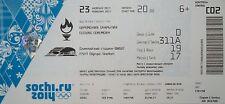 mint TICKET 23.2.2014 Olympic Sotschi Sochi Closing Ceremony C02