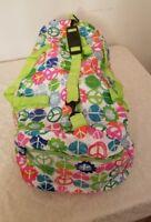Water resistant colorful duffel bag, New!