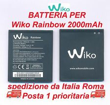 "BATTERIA  WIKO 5222 PER RAINBOW 2000mAh REALI QUALITA' TOP ""AAA"" PIENA POTENZA"