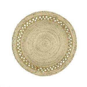 Area Rug Natural Jute Chindi Rag Rugs Handwoven Modern Braided Kitchen Carpet