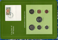 Coin Sets of All Nations Swaziland w/card 1974-1982 UNC 1 cents 1974 10 Cts 1975