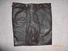 BRUUNS BAZAAR LADIES SKIRT REAL BROWN LEATHER SIZE 14-16