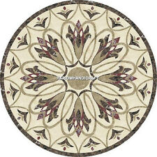 Multi Living Home Top Marble Dining Table Mosaic Marquetry Inlay Decor H5000
