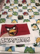 Kids Angry Birds Reversible Duvet Cover Set Pillowcase