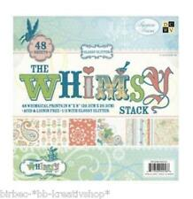 48 SCRAPBOOKING Papier 20,5 cm DCWV teilw. Glitter Cardstock WHIMSY STACK 0005