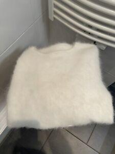Neue weiss Pullover angora 80%