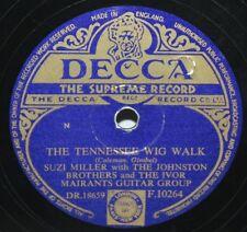 """10"""" 78 - Suzi Miller/Johnston Brothers -Tennessee Wig Walk - Decca F10264 - 1954"""