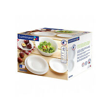 41 Piece Dinning Set Tempered Glass White for 12 People LUMINARC UK