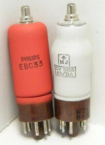EBC33, CV1055 Phillips Mullard electron valve tube