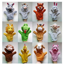 1X Cute Animal Wildlife Hand Glove Puppets Soft Plush Kids Funny Toy Gift Random