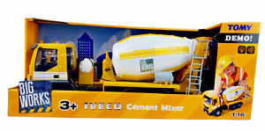 1/16 Tomy Big Works Iveco Cement Mixer Truck lights and sounds
