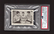 Max Baer Primo Carnera Jack Dempsey 1930 Amalg Press Boxing Card PSA 6 EX-MT