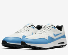 Nike Air Max 1 G Golf Shoes White Blue Uk Size 7.5 Eur 42 CI7576-101