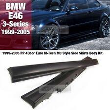 Euro M-Tech M3 Style Side Skirts Body Kit Trim For BMW 99-05 3 Series E46 Sedan