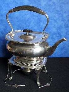 ANTIKE 925 Sterling silver SAMOVAR, TEA POT, HOCHWERTIGER TEEKESSEL mit STÖVCHEN
