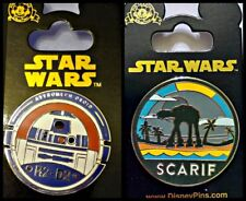Disney Parks 2 Pin Lot STAR WARS R2-D2 Astromech Droid + SCARIF