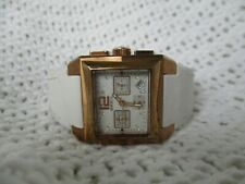 Breil Milano Analog Watch with Leather Buckle Band WORKING!